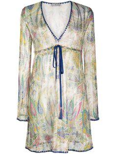Etro прозрачное платье с узором пейсли