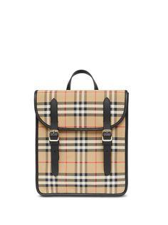 Burberry Kids клетчатый рюкзак из ткани ECONYL®