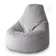 Кресло-мешок mypuff люкс сталь, мебельный велюр bn_460