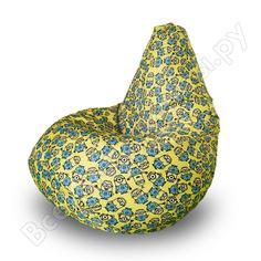 Кресло-мешок mypuff груша миньоны, размер компакт, принтованный оксфорд bm_593