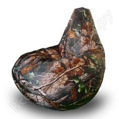 Кресло-мешок mypuff груша, лес, размер стандарт, принтованный оксфорд b_588