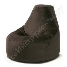 Кресло-мешок mypuff люкс темный шоколад, мебельный велюр bn_500