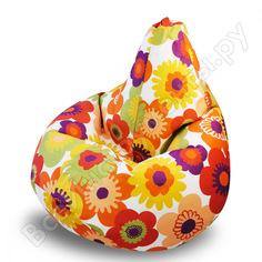 Кресло-мешок mypuff груша, пуэрто плата, оранжевый, размер стандарт, мебельный хлопок b_318