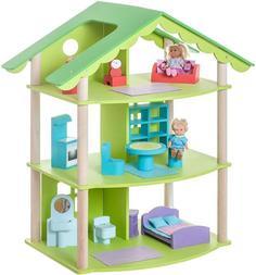 """Кукольный домик PAREMO """"Фиолент"""" с 14 предметами мебели"""