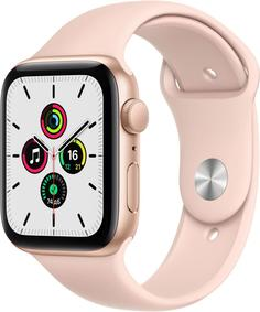 Умные часы Apple Watch SE, 44 мм, корпус из алюминия золотого цвета, спортивный ремешок