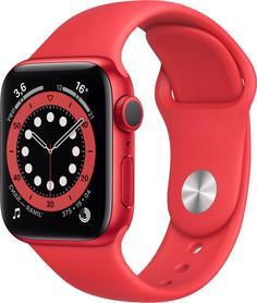 Умные часы Apple Watch Series 6, 40 мм, корпус из алюминия цвета (PRODUCT)RED, спортивный ремешок