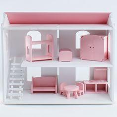 Кукольный домик PAREMO Даниэла с мебелью 6 предметов (PD218-03)