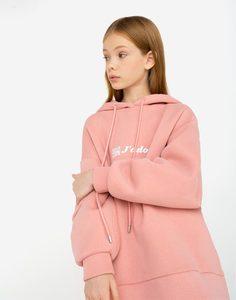 Худи oversize с QR-кодом для девочки Gloria Jeans