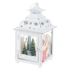 Фонарь праздничный Bizzotto белый домик 24,5 см