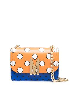 Moschino сумка на плечо в горох с логотипом M