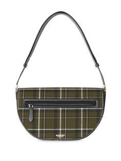 Burberry клетчатая сумка Olympia среднего размера