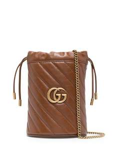 Gucci сумка-ведро GG Marmont размера мини