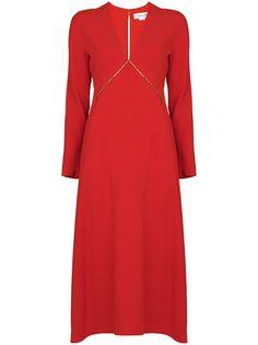 Victoria Beckham платье миди с цепочкой