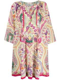 Etro платье с принтом и вырезом капелькой