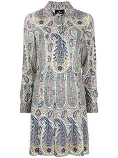 Etro платье-рубашка длины мини с принтом пейсли