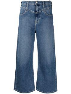 Calvin Klein Jeans расклешенные джинсы с V-образной вставкой