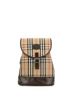 Burberry Pre-Owned рюкзак с кулиской в клетку Nova Check