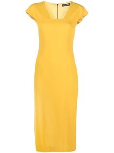 Dolce & Gabbana платье миди из ткани кади
