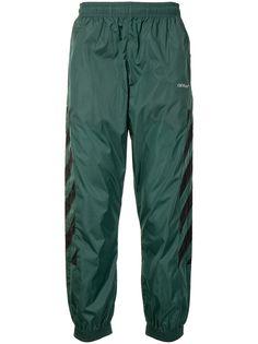 Off-White спортивные брюки с диагональными полосками