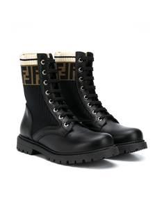 Fendi Kids ботинки с логотипом FF