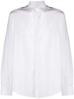 LANVIN рубашка с потайной застежкой