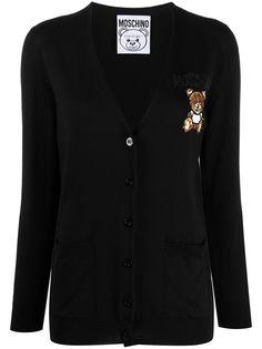 Moschino кардиган Teddy Bear с бисером