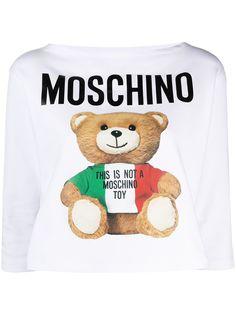 Moschino футболка Teddy Bear с рукавами три четверти