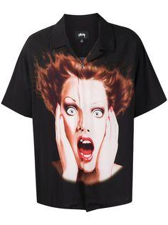 Stussy рубашка с графичным принтом