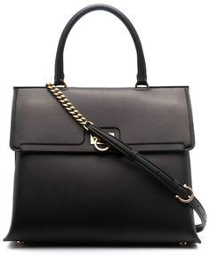 Salvatore Ferragamo сумка-тоут с клапаном и декором Gancini