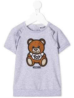 Moschino Kids платье с вышивкой Teddy Bear