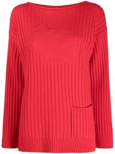 Etro свитер в рубчик с длинными рукавами