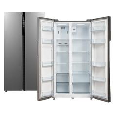 Холодильник БИРЮСА SBS 587 I, двухкамерный, нержавеющая сталь