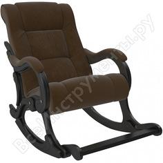 Кресло-качалка комфорт модель 77 венге, ткань verona brown 68480