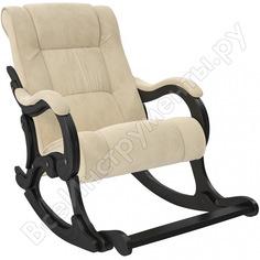 Кресло-качалка комфорт модель 77 венге, ткань verona vanilla 68565