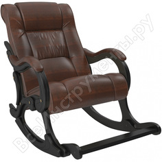 Кресло-качалка комфорт модель 77 венге, кожзам antik crocodile 68091