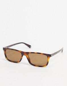 Квадратные солнцезащитные очки с черепаховыми элементами Polaroid-Коричневый цвет