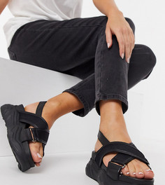 Черные сандалии на массивной подошве Selected Ollie-Черный