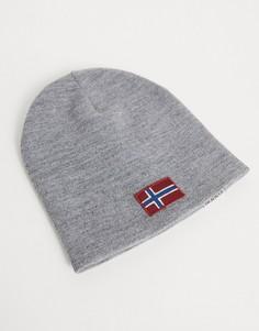 Серая шапка-бини Napapijri Fira-Серый