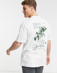 "Белая футболка с принтом ""exhibit"" спереди и сзади Topman-Белый"