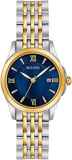 Японские наручные женские часы Bulova 98M124. Коллекция Classic