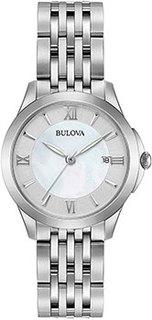 Японские наручные женские часы Bulova 96M151. Коллекция Classic