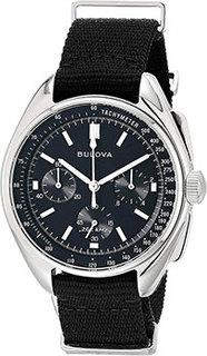 Японские наручные мужские часы Bulova 96A225. Коллекция Lunar Pilot Chronograph