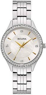 Японские наручные женские часы Bulova 96L282. Коллекция Crystal Ladies