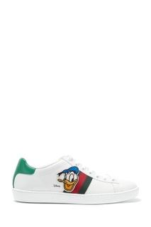 Кожаные кеды Ace с изображением Дональда Дака Gucci
