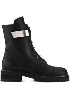 Giuseppe Zanotti ботинки Alexa с металлическим логотипом
