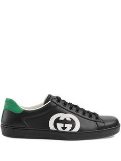 Gucci кеды Ace с логотипом Interlocking-G