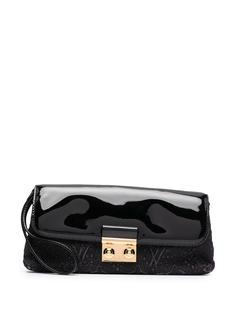 Louis Vuitton клатч pre-owned с вышитым логотипом