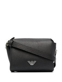 Emporio Armani сумка через плечо из зернистой кожи с логотипом