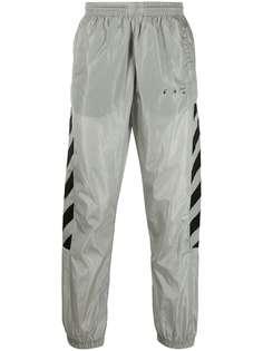 Off-White спортивные брюки с принтом Diag