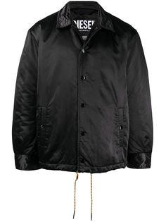 Diesel куртка-рубашка с нашивкой-логотипом
